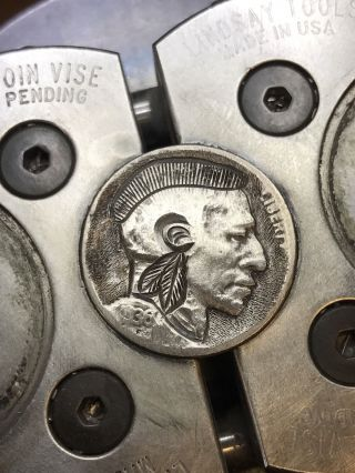 Hobo Nickel Coin Art Mohawk Brave 97 photo