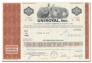 Uniroyal,  Inc.  Bond Certificate photo