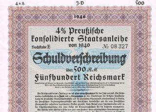 Nazi Germany - War Bond - 1940 - 500 Reichsmark - Top photo