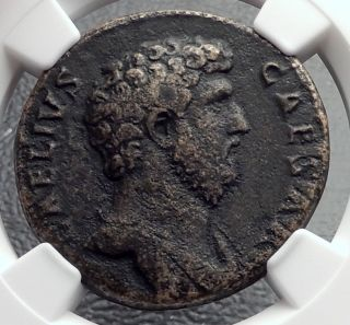 Aelius Successor Of Hadrian 137ad Ancient Sestertius Roman Coin Ngc Vf I60433 photo