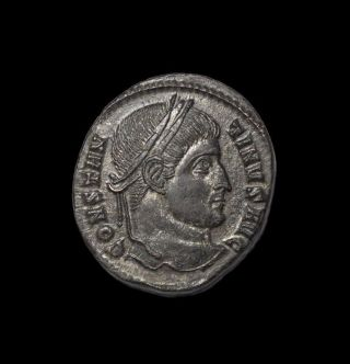 Ae 19 Mm Of Constantine Wreath Vot Xx Ticinum. photo