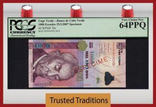 Tt Pk 70s 2007 Cape Verde 1000 Escudos