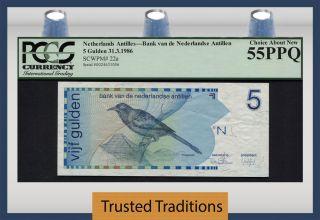 Tt Pk 22a 1986 Netherlands Antilles 5 Gulden