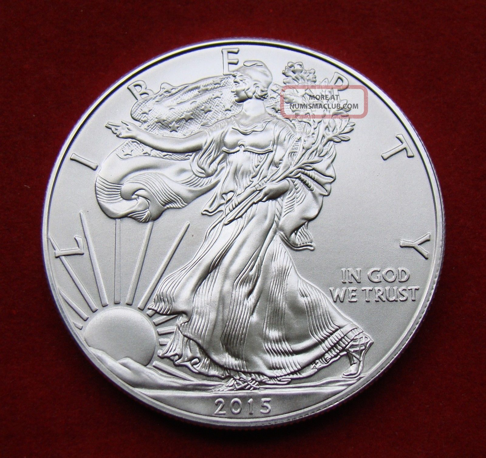 2015 Silver Dollar Coin 1 Troy Oz American Eagle Walking