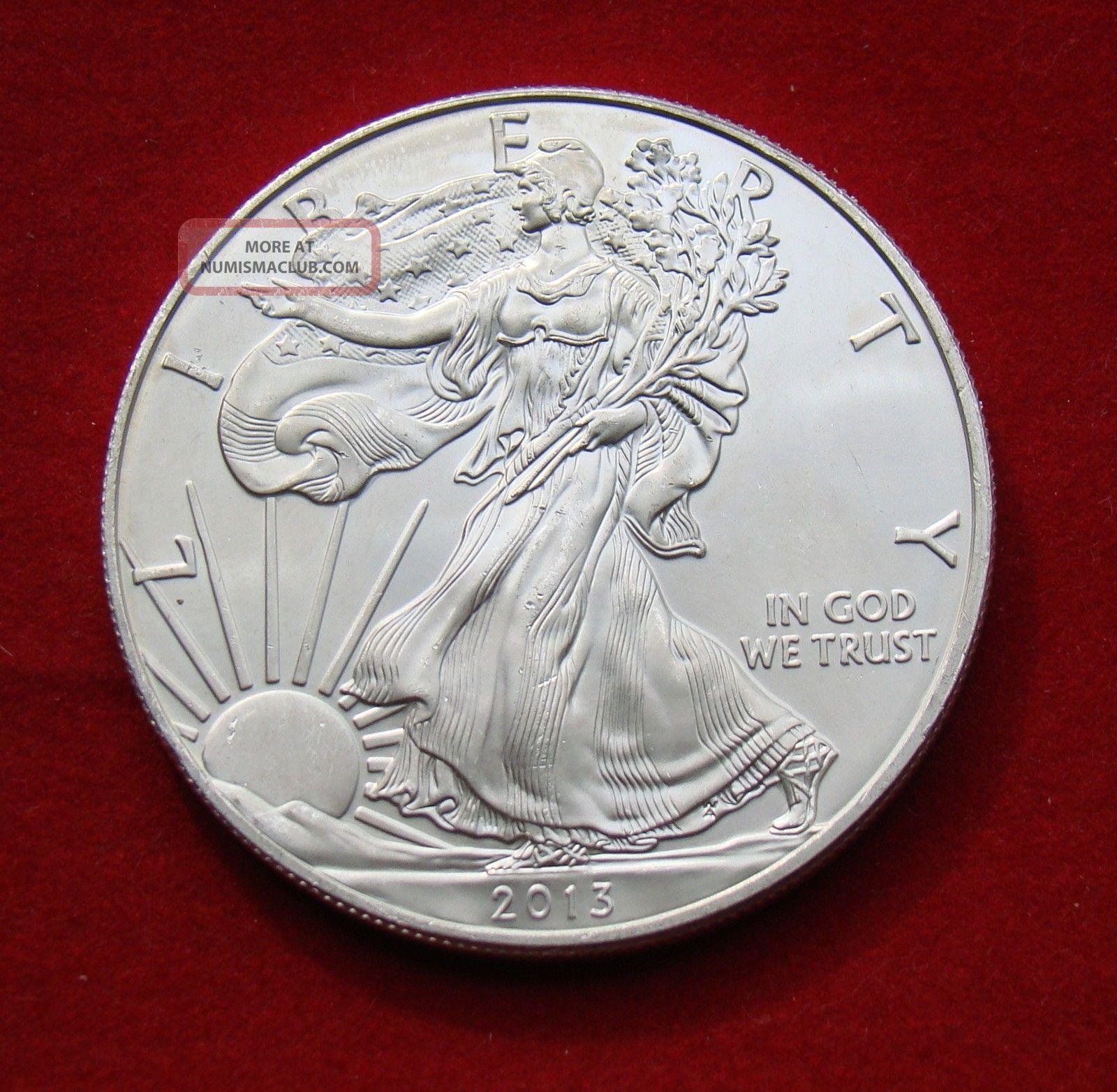 2013 Silver Dollar Coin 1 Troy Oz American Eagle Walking