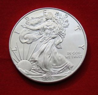 2013 Silver Dollar Coin 1 Troy Oz American Eagle Walking Liberty.  999 Fine photo