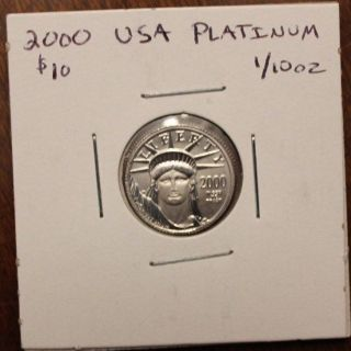 2000 1/10 Oz Platinum American Eagle Coin photo