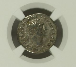 Roman Empire,  Trajan,  Ad 98 - 117,  Ar Denarius,  Ngc Ch Vf,  Strike: 5/5,  Surface: 3/5 photo