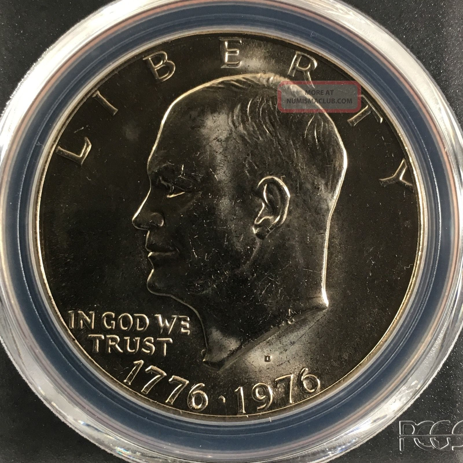 1976 - D Type 1 $1 Eisenhower Dollar Pcgs Ms66 82602636 Dollars photo