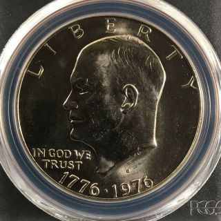 1976 - D Type 1 $1 Eisenhower Dollar Pcgs Ms66 82602636 photo