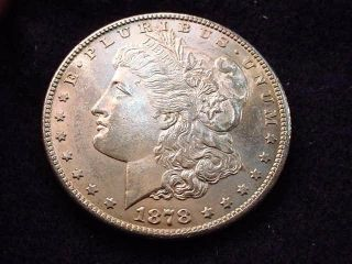1878 - S Morgan Dollar Bu Coin - - - 260 photo