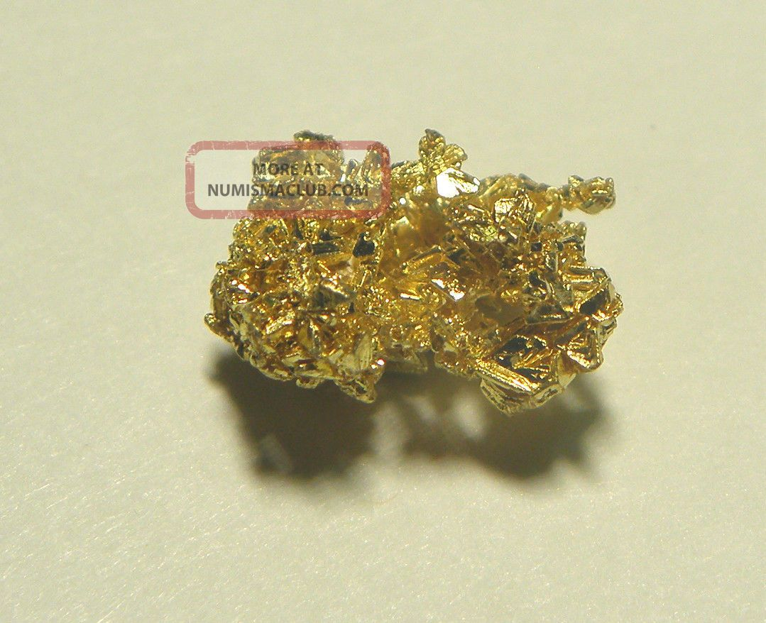 1 7 Grams Of Crystalline Gold Nugget From Round Mountain Gold Mine Nevada Usa