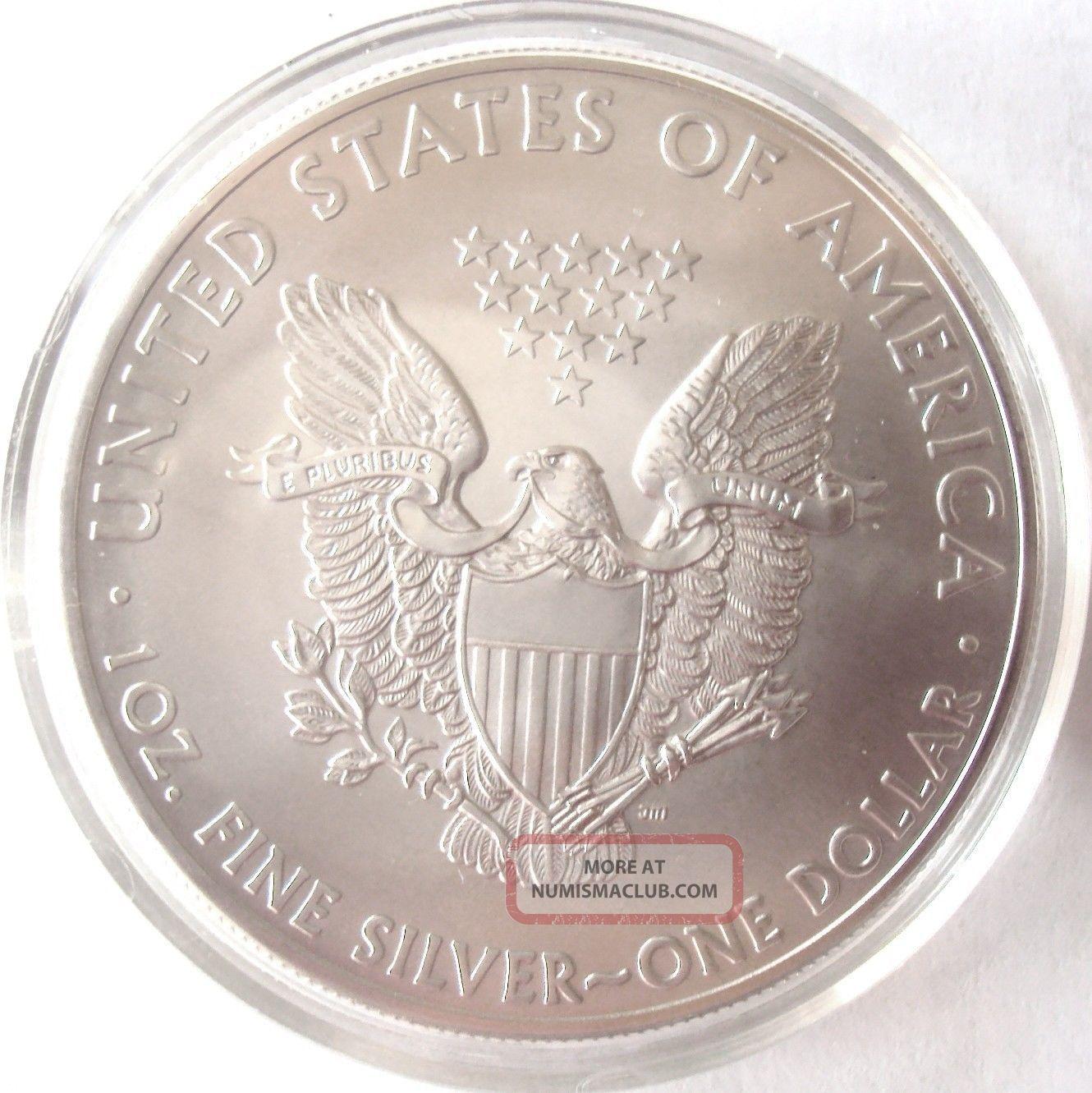 2015 American Silver Eagle 999 1 Oz 1 Silver Bullion Bu