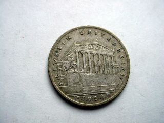 1926 Austria 1 Shilling Silver Coin - photo