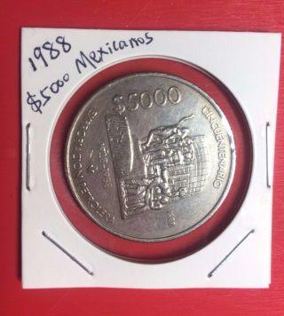 $5000 Expropacion Petrolera 1988 Mexican Coin Mexico photo