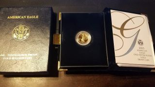 2005 One - Tenth Ounce Proof Gold Bullion Coin American Eagle $5 Coin photo