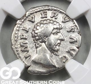 Roman Empire,  Ar Denarius,  Lucius Verus,  Ad 161 - 169 Ngc Vf Ancients photo