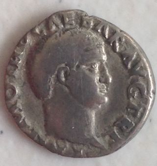 69ad Salvius Otho Roman Caesar Authentic / Rare Type Silver Denarius Coin photo