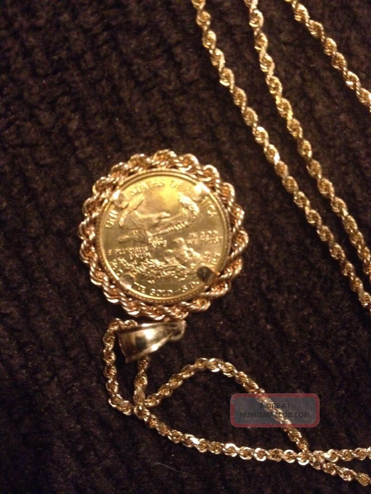 14k Yellow Gold Chain Necklace W Unique 1992 1 10th Oz
