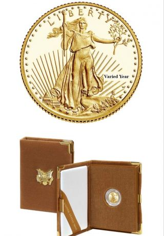 2016 - W 1/10 Oz Proof Gold American Eagle (w/box &) photo