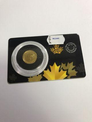 2016 Canada 1/10 Oz Gold Growling Cougar.  99999 Bu In Assay Card photo