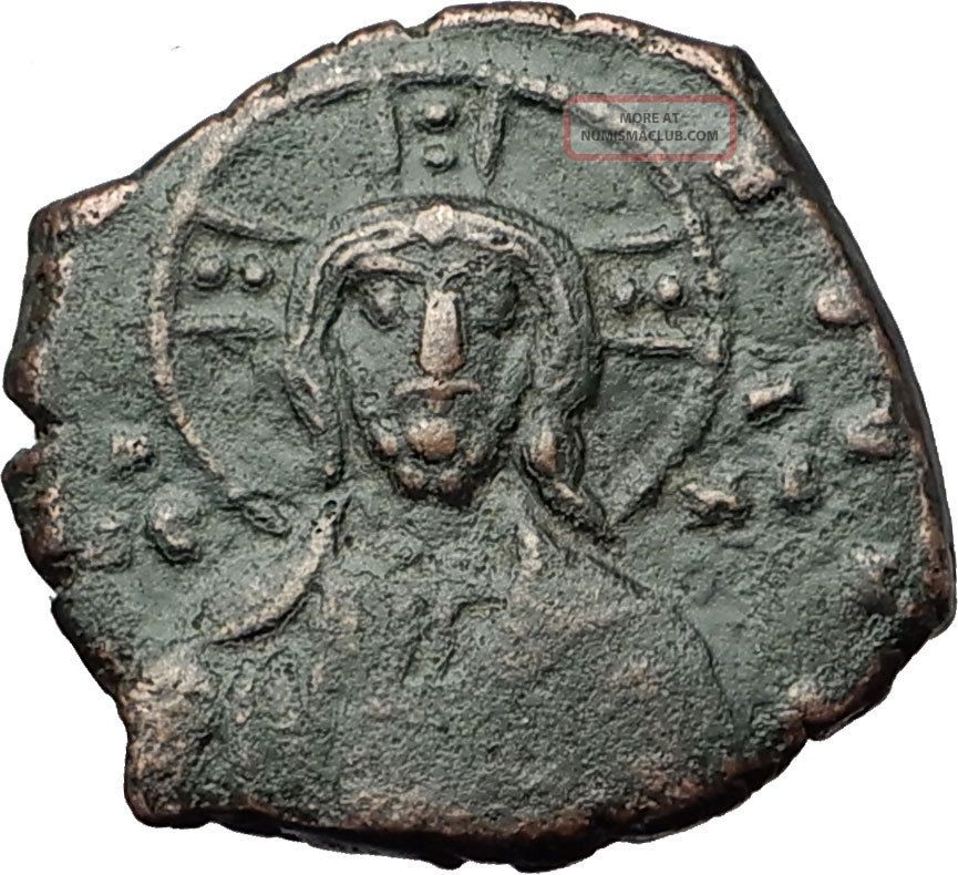 Jesus Christ Class A1 Anonymous Ancient 969ad Byzantine Follis Coin I59172 Coins: Ancient photo