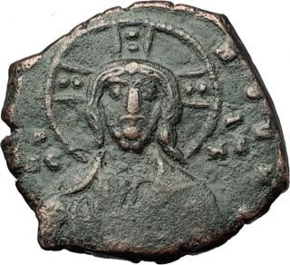 Jesus Christ Class A1 Anonymous Ancient 969ad Byzantine Follis Coin I59172 photo