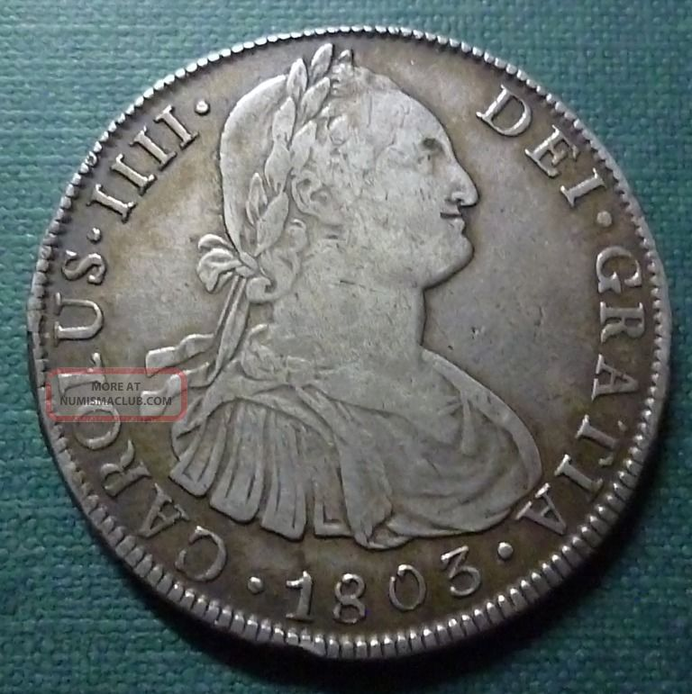 Bolivia Silver Coin 8 Reales,  Km73 Vf,  1803 Pj (potosí) South America photo