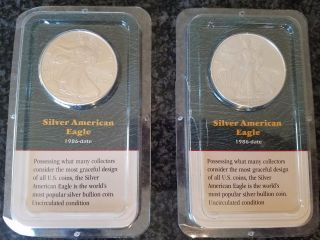2000 1 Oz Silver American Eagle - Uncirculated In - (2) photo