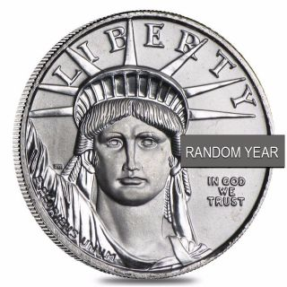 1/10 Oz $10 Platinum American Eagle (random Year) photo