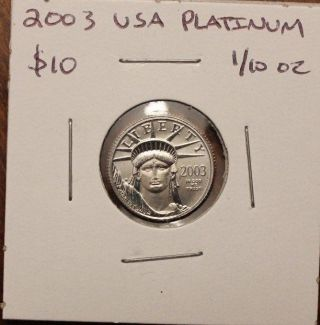 2003 1/10 Oz Platinum American Eagle Coin photo