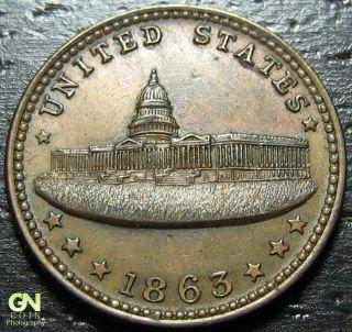1863 Civil War Token 233/312 - - Make Us An Offer O9975 photo