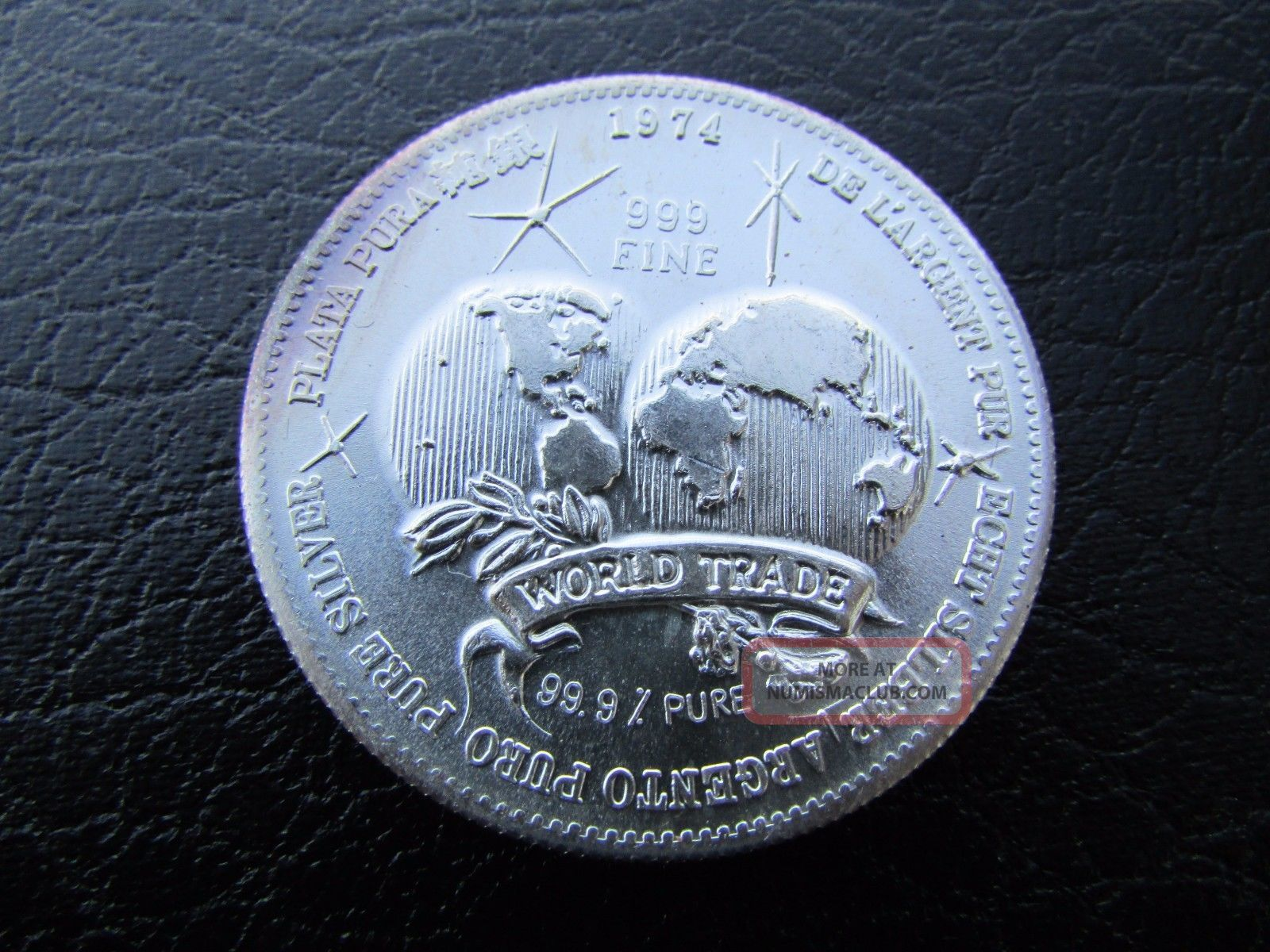 Vintage 1974 1 Oz Silver International Universal World