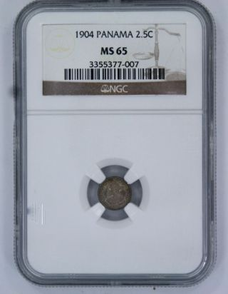 1904 Panama 2.  5c Coin - Ms 65 - Ngc photo