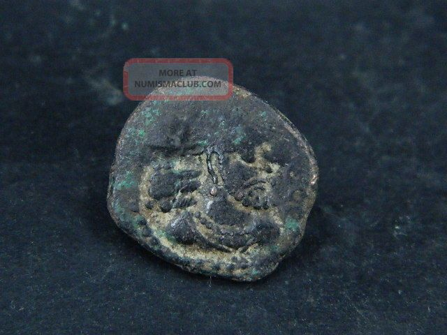 Ancient Bronze Coin Bactrian 100 Bc S6150 Coins: Ancient photo