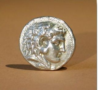 Ancient Greek Coin Alexander Tetradrachm photo