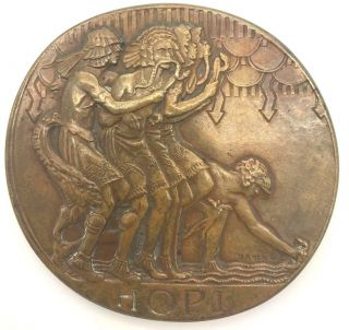 Society Of Medalists 3rd Issue Hopi / Prayer For Rain Bronze Medal 1931 photo