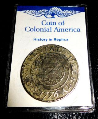 1776 Continental Dollar Currency Copy Coin Colonial America We Are One Mind Your photo