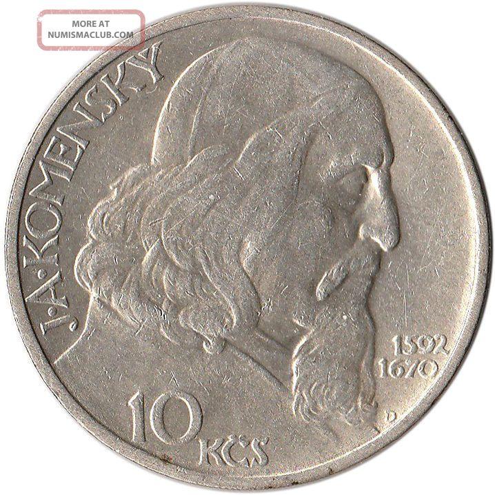 1957 Czechoslovakia 10 Korun Silver Coin Km 48 Mintage 150,  000 Czech Republic photo
