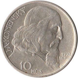 1957 Czechoslovakia 10 Korun Silver Coin Km 48 Mintage 150,  000 photo