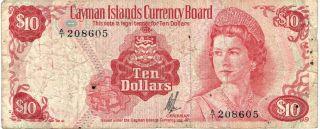 1971 Cayman Islands Currency Board 10 Dollars Km: 3 photo