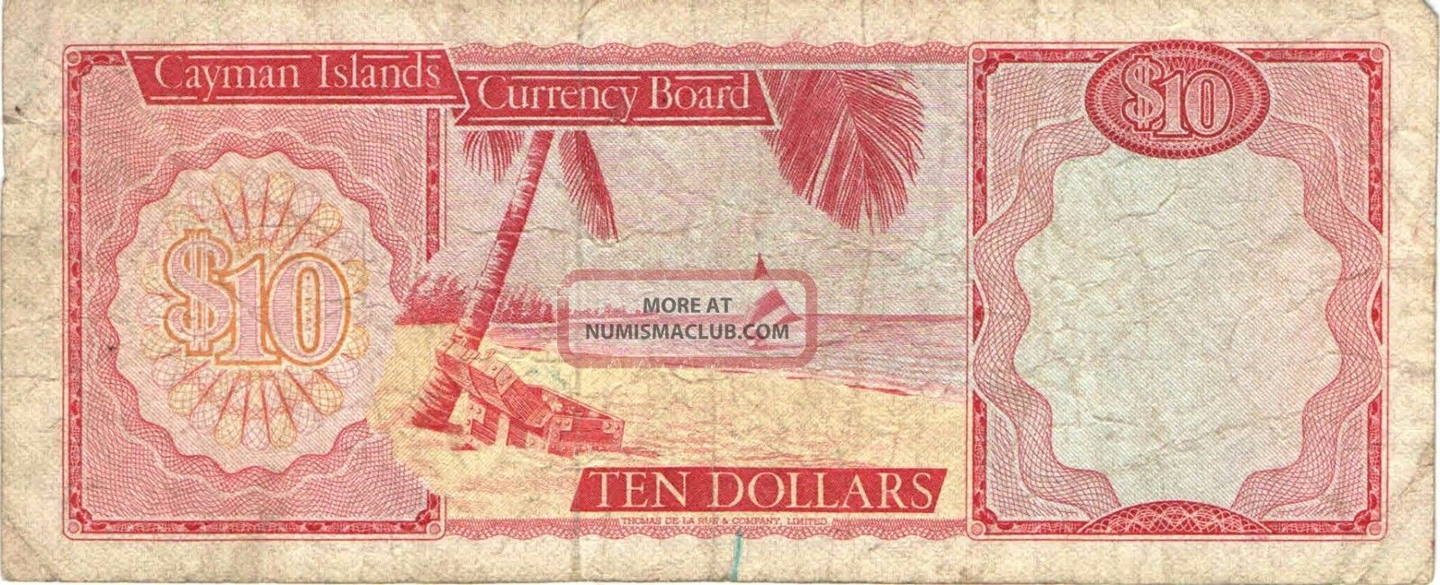 CAYMAN ISLANDS 5 dollars 1971 Currency Board banknote  :: pamregetist tk