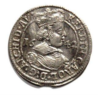 Austria Silver - 3 Kreutzer 1642 Ferdinand photo