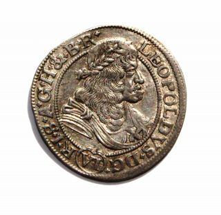 Rrr Silesia - Breslau Silver - Vi Kreutzer 1678 Leopold I - Rare Coin photo