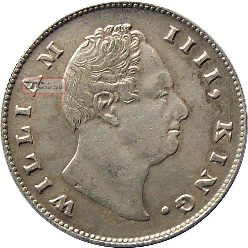 Scarce East India Company 1835 Silver Rupee Coin William Km - 450.  3 Very Fine Vf India photo