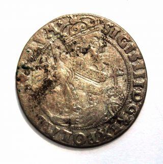 Poland - Sigismund Iii Vasa Ort - 1/4 Thaler 1624 Ad - photo