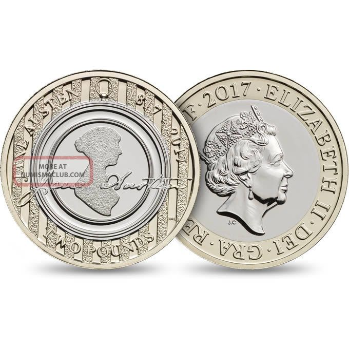 Uk 2017 - £2 - Jane Austen - Brilliant Uncirculated Coin UK (Great Britain) photo
