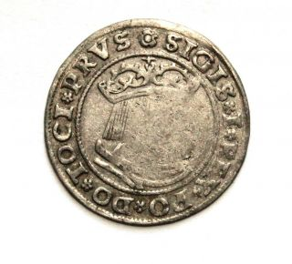 Poland - Sigismund I - Silver Grossus 1529 Thorn photo