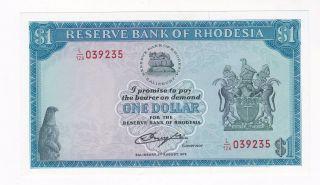 Rhodesia: Banknote - 1 Dollar 1979 Unc (a087) photo