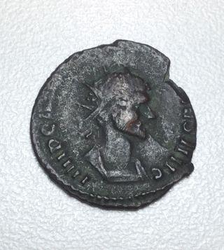 Emperor Claudius Ii Goths 268 - 270 Ad Ancient Roman Coin Rare photo